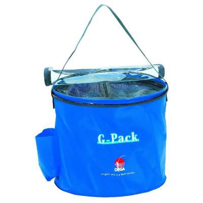 DEGA G-Pack, rond, bleu, avec fermeture éclair, dm 30cm, 17l