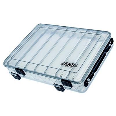Boîte en plastique JENZI, transparente, ouvrable des deux côtés, 2x275x150