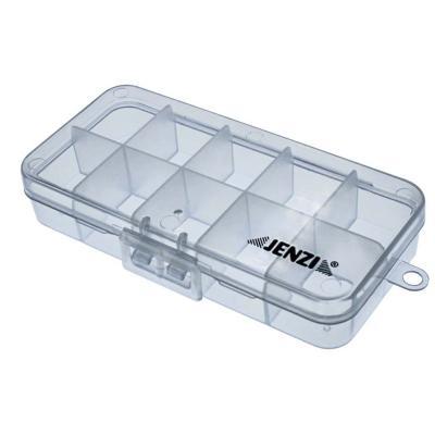Boîte plastique JENZI, transparente, 132x60x25mm