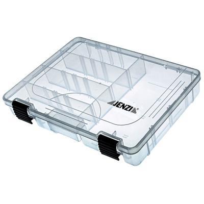 JENZI plastic box, transparent, 275x180x42mm