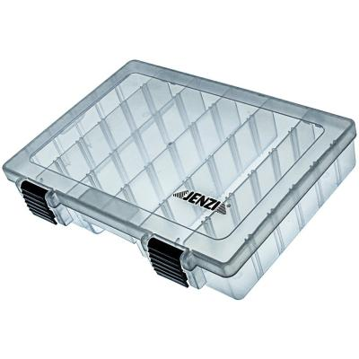 Boîte plastique JENZI, transparente, 273x176x44mm