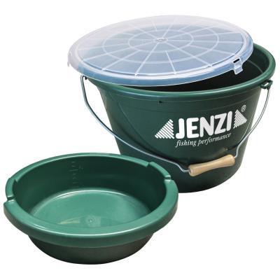 JENZI feed bucket 25 ltr. with insert + lid
