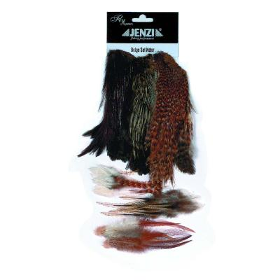 JENZI FLY-TYING Capes + Hackles Nature