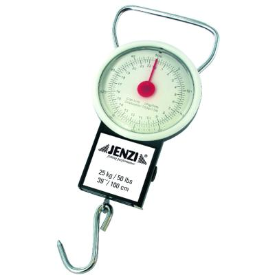 JENZI spring balance deluxe up to 22kg, with tape measure E.