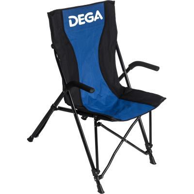 DEGA Light folding chair made of metal with DEGA armrests