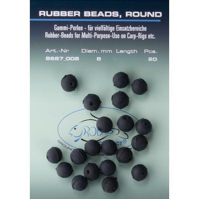 Perles en caoutchouc JENZI noires 8mm