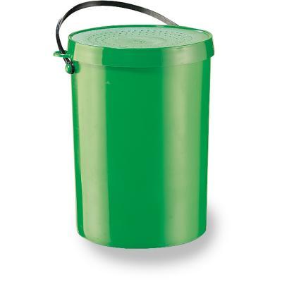 JENZI worm and bait bucket green 1 ltr