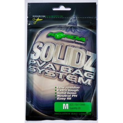 Korda Solidz PVA bags - 20 bags Medium 70x110mm