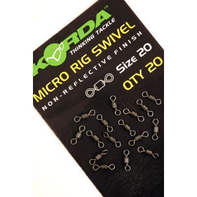 Korda Micro Rig Swivel - 20 pièces