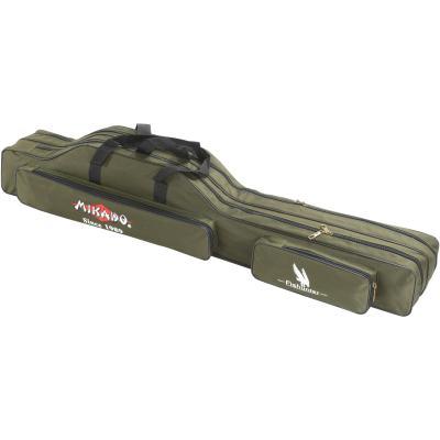 Mikado rod case - 2 compartments 140cm - green