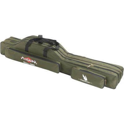 Mikado rod case - 3 compartments 140cm - green