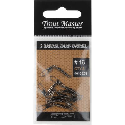 Spro Troutmaster 3 Barrel Snap Swivel #16 7kg