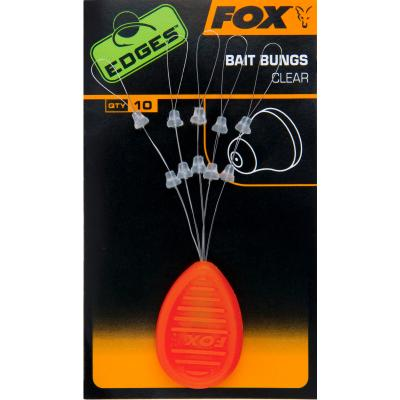 FOX Edges Bait Bungs Clear x 10