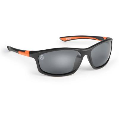 FOX Sunglasses Black / Orange wraps / grey lense