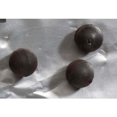 Iron Trout rubber beads 4mm 10 pieces.