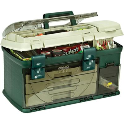 Boîte à 3 tiroirs PLANO Vert / Beige W / 1-23500