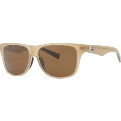 Lenz Tay Acetate Sunglasses Clear Yellow w/Brown Lens