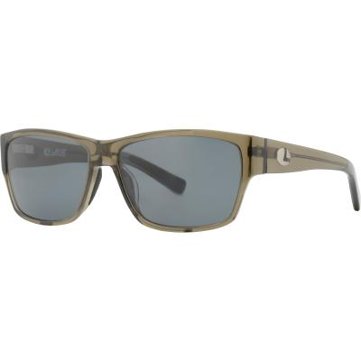 Lenz Dee Acetate Sunglasses Clear Army w/Grey Lens