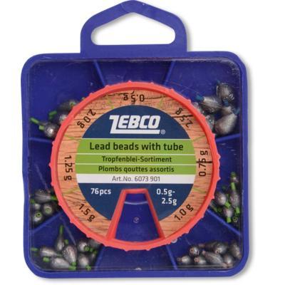 Assortiment de plombs ZEBCO, 0.5-2.5 g, 76 pièces