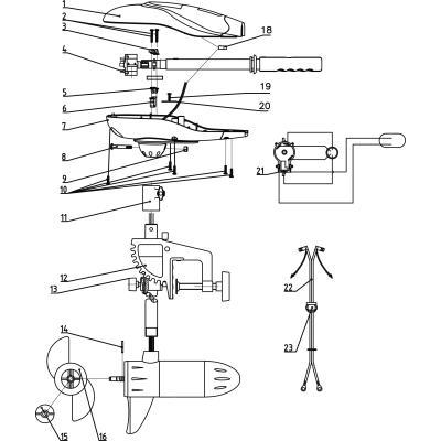 Rhino VX spare parts Part 16 propellers, 2 blades VX28 / 34