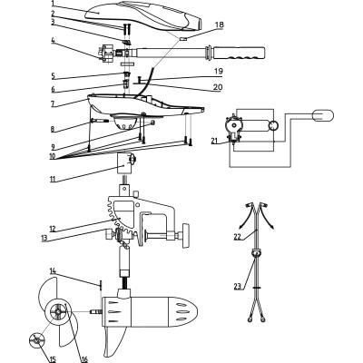 Rhino VX spare parts Part 23 Battery cable clip VX28 / 34/44/54/65/80