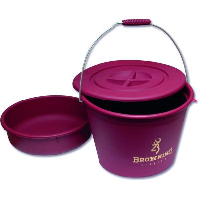 Browning bucket with lid and feed pan 30l