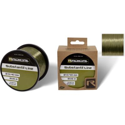 Radical Ø0,40mm Substantil Line 816m 10,80kg, 23,80lbs transparent green