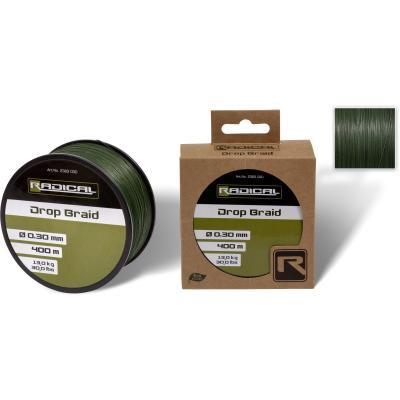 Radical Ø0,25mm Drop Braid 400m 11,3kg, 25lbs dark green