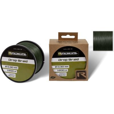 Radical Ø0,25mm Drop Braid 1200m 11,3kg, 25lbs dark green