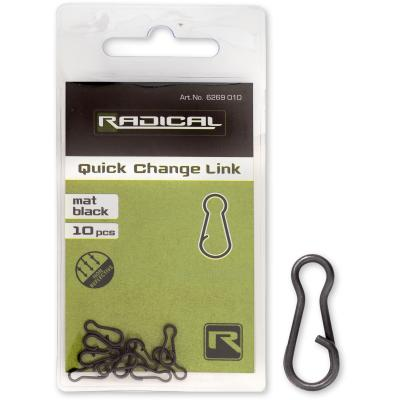 Radical quick-change connector mat black non reflective