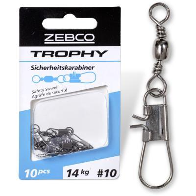 Taille Zebco: 16 L: émerillon de sécurité Trophy 22 mm 10 kg