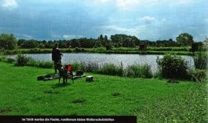 Angler und Teich